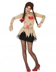 Voodoo-Puppen-Kostüm für Damen