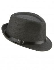 Borsalino Party-Hut für Erwachsene grau-schwarz