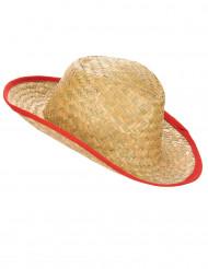 Cowboy-Hut mit roter Borte