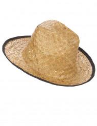 Cowboy-Hut mit schwarzem Rand für Erwachsene