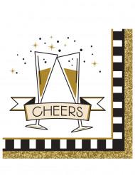 16 kleine Papier-Servietten Happy New Year