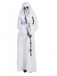 Geisterhaftes Nonnen-Kostüm für Damen weiss