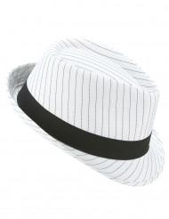 Weißer Gangster-Hut für Erwachsene