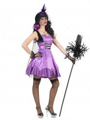 Violettes Hexenkostüm barock für Damen