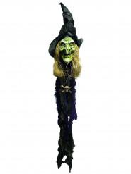 Beleuchtete Halloween-Dekoration Hexenkopf, 150 cm