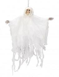 Halloween-Dekoration weißes Skelett zum Aufhängen, 50 cm
