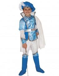 Blaues Prinzen Deluxe Kostüm für Jungen