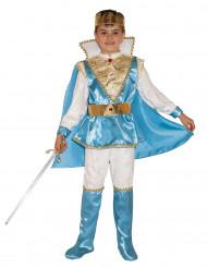 Blaues Prinzen Kostüm für Jungen