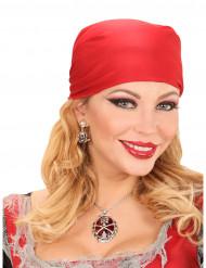 Edle Totenkopf Piratin Halskette für Damen