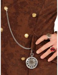 Piraten-Kette mit Medaillon für Erwachsene