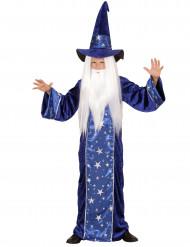 Blaues Zaubererkostüm für Kinder