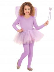 Set Feenprinzessin violett für Kinder