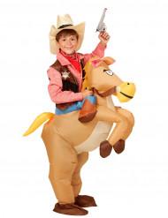 Aufblasbares Western-Pferd Kostüm für Kinder