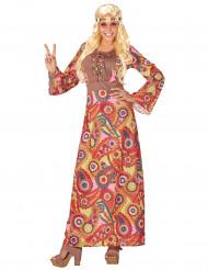 Langes Hippie-Kostüm für Damen