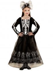Langes Skelett-Kostüm für Kinder