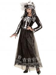 Elegantes Skelett-Kleid Kostüm für Damen