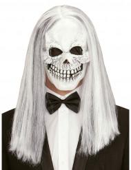 Skelett Maske mit Perücke für Erwachsene