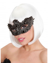 Antike Gesichtsmaske mit Schmucksteinen für Erwachsene silber