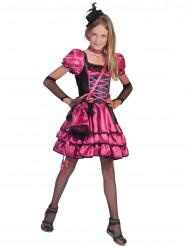 Pinkes Tänzerinnen Kostüm für Kinder