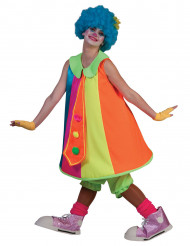 Buntes Clownfrau Kostüm für Damen