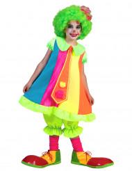 Neonfarbenes Clownskostüm für Kinder