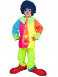 Neonfarbenes Clownskostüm für Jungen