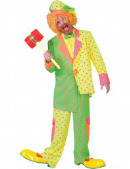 Clown Kostüm mit Punkten für Herren