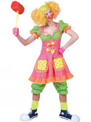 Neonfarbenes Clownskostüm für Damen