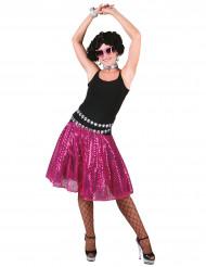 Rosa Disko-Rock mit Pailletten für Damen