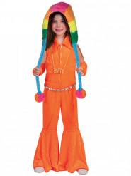 Oranges 70er Jahre Kostüm für Kinder
