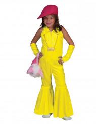Neongelbes 70er Jahre Kostüm für Kinder