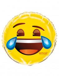 Aluminium-Ballon lachender Emoji ™ gelb 46 cm