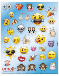 136 selbstklebende Emoji™ Sticker