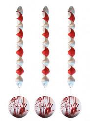 3 Halloween-Dekorationen Blutverschmierte Hände zum Aufhängen