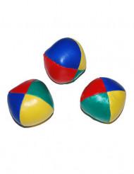 3 Bälle zum Jonglieren bunt 6 cm