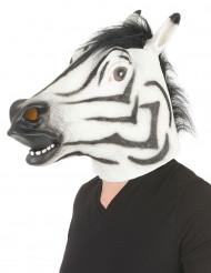 Zebra Maske aus Latex für Erwachsene
