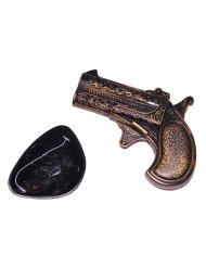 Piraten-Set mit Minipistole und Augenklappe