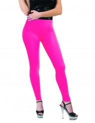 Neon-Leggings für Damen pink