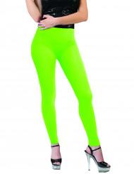 Fluoreszierende Leggings für Damen neongrün