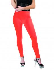 Fluoreszierende Leggings für Damen orange