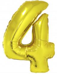 Folienballon Nummer 4 gold Partyzubehör