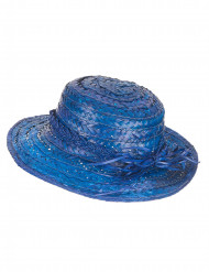 Vintage Strohhut für Damen blau