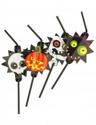8 Strohhalme Kleine Halloween-Monster