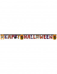 Girlande Happy Halloween mit kleinen Monstern