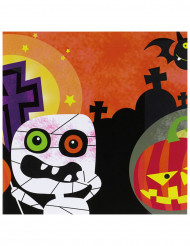 20 Papierservietten Kleine Halloween-Monster