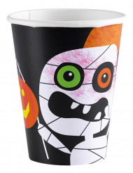 8 Halloween-Pappbecher Kleine Monster, 266 ml