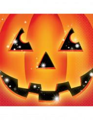 16 Papierservietten Halloween Kürbis