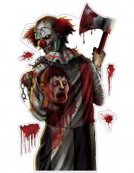 Aufkleber Blutrünstiger Clown