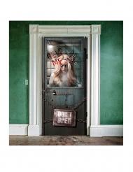 Türdekoration Blutiges Irrenhaus für Halloween