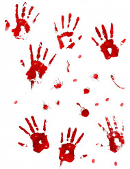 Halloween-Wandaufkleber Blutspuren